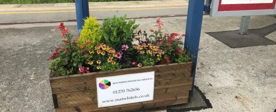 Great to #sponsor again the flower troughs for a second season at #Sandbach #train #station