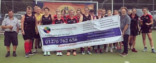 Crewe Vagrants' Hockey Club has a new main sponsor