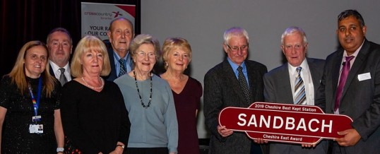 Congratulations to Sandbach on winning the 'Best Kept Station' award